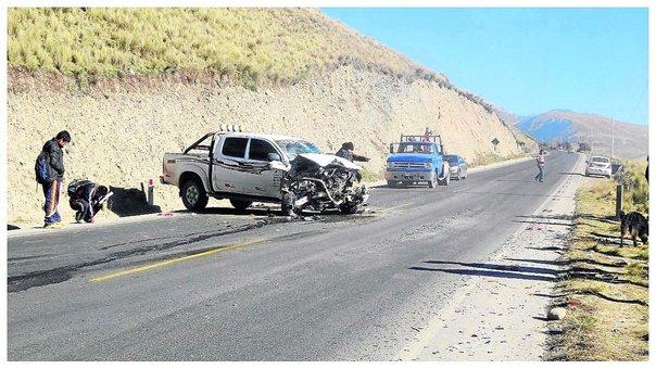 22 accidentes de tránsito? se registraron a la fecha entre La Oroya y Lima