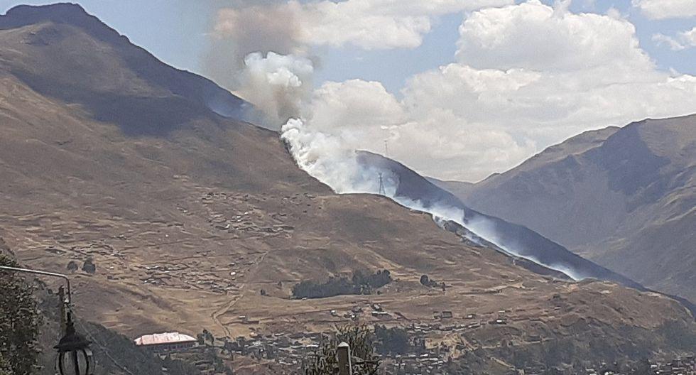 Huancavelica: Incendio forestal consume 15 hect�reas en San Jer�nimo