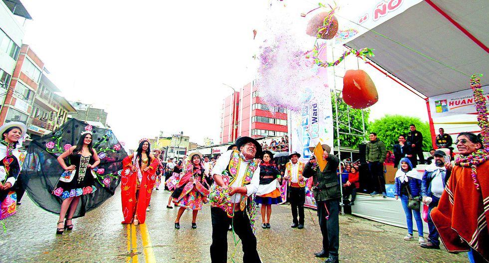 Huancayo celebr� a lo grande  el inicio de los carnavales