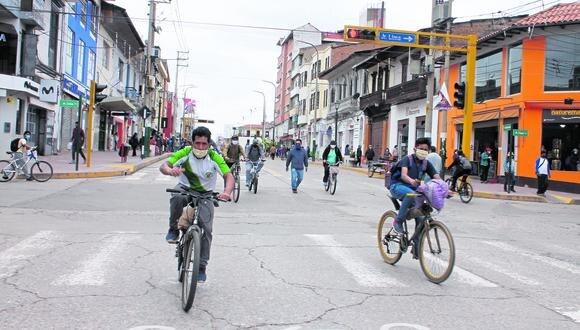 Ciclov�as temporales en etapa final para iniciar instalaci�n en Huancayo