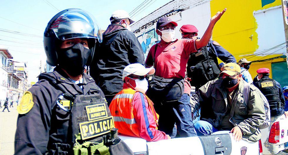 Huancayo: M�s de un centenar de detenidos en protesta de CGTP y mineros