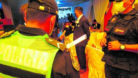 Novios e invitados son intervenidos dos veces el mismo d�a por celebrar boda en Huancayo