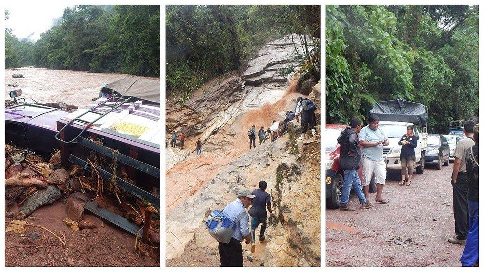 Desborde de río deja incomunicadas a ciudades de Oxapampa