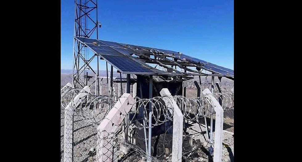 Huancavelica: Creyendo que es 5G queman antena de telefon�a y retienen a trabajadores