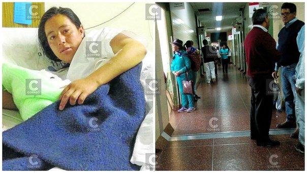 Huancayo: por demora en atención mujer alumbra a su bebé en el pasadizo del hospital