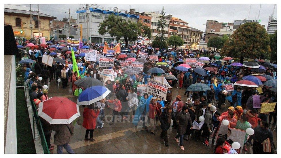 Marcha 'Jimena Renace' convoca a multitudes en Huancayo y Selva Central