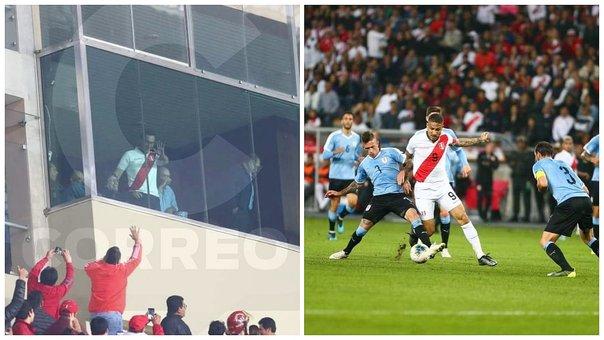 Mart�n Vizcarra recibi� ovaci�n de los hinchas en el Per� vs. Uruguay