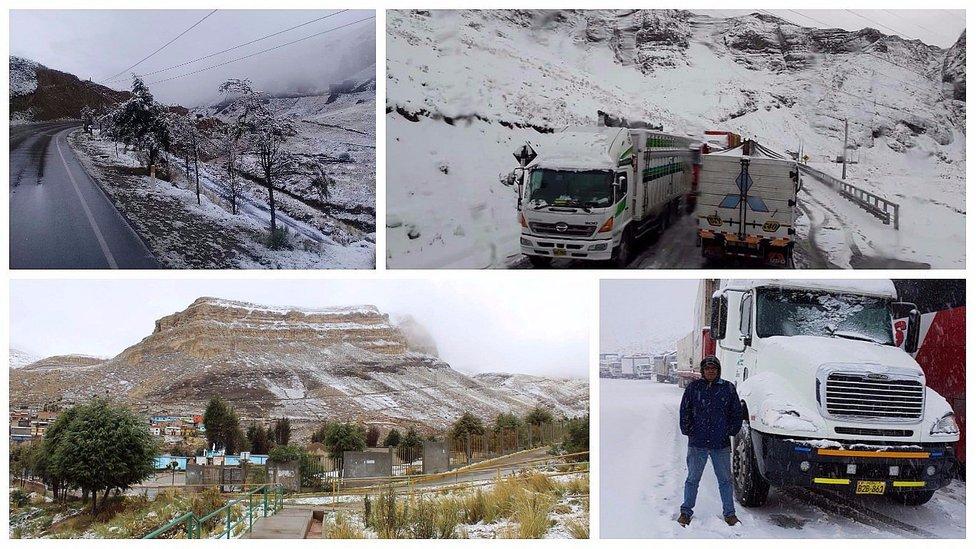 Tránsito se abre en la Carretera Central tras 9 horas de cierre por intensa nevada