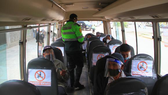 Transporte interprovincial al 20% de niveles prepandemia