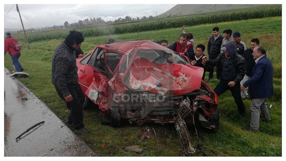 Triple choque deja un muerto y varios heridos en vía Jauja - Huancayo