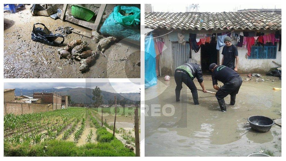 Una vivienda colapsada y 40 inundadas por lluvias intensas que azotaron Huancayo