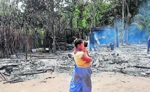 Incendio destruye casas y deja en la calle a tres familias en Pichanaki