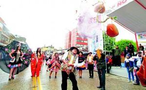 Huancayo celebró a lo grande  el inicio de los carnavales