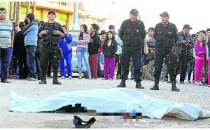 Huancayo: Sicarios acribillan a comerciante en la puerta de un bar