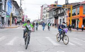 Ciclovías temporales en etapa final para iniciar instalación en Huancayo