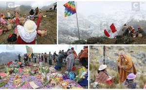 Así celebran el Año Nuevo Andino en el Nevado del Huaytapallana