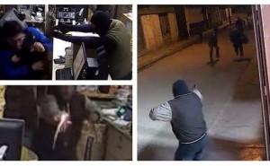 Delincuentes armados entran a robar a tienda pero dueño los hace huir a balazos