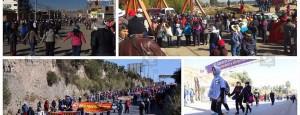 Docentes del Sutep bloquean vías de acceso a la ciudad de Huancayo