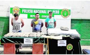 PNP incauta 400 kilos de cocaína y 60 de marihuana