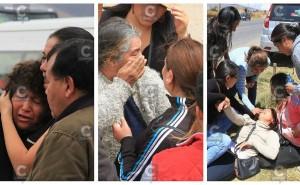 En medio del llanto y dolor cuerpos de policías abatidos en emboscada llegan a Huancayo