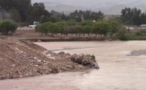 Huancayo: caudal del río Mantaro erosiona franja marginal de botadero