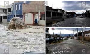 Huancayo: 20 minutos de lluvia provoca inundación de gran magnitud