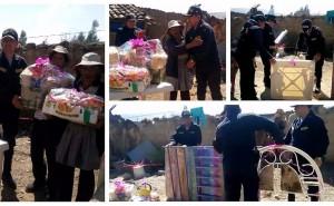 Huancayo: Policías llevan 'palpa' a anciana pareja que nunca tuvo regalos