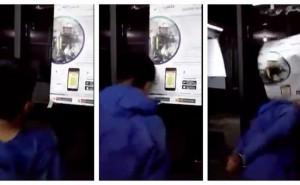 Ladrón de celulares llora y rompe mampara de comisaría, con la cabeza