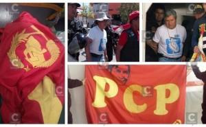 Marcha con el Sutep portando bandera del PCP y lo detienen por apología al terrorismo