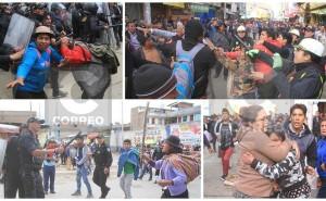 Paro agrario: Violento enfrentamiento entre comerciantes y manifestantes en Huancayo